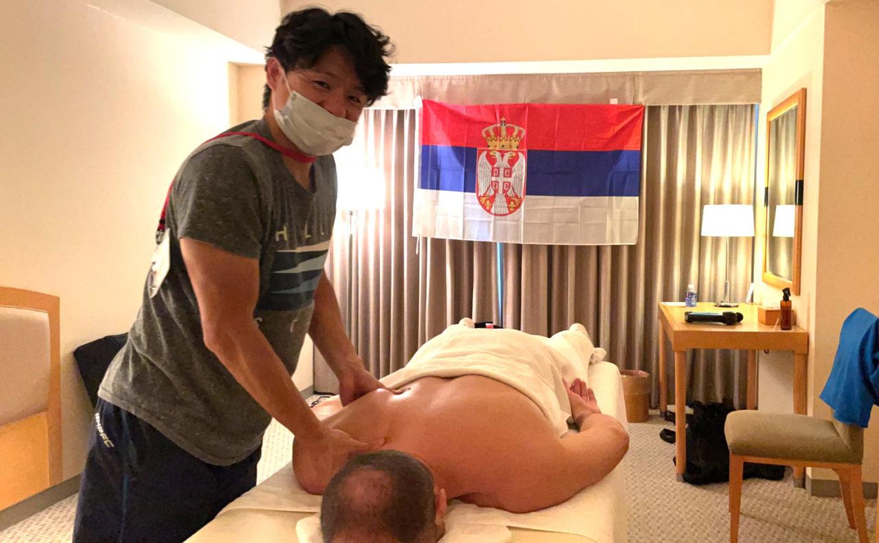 セルビア・サンマリノレスリングチーム帯同